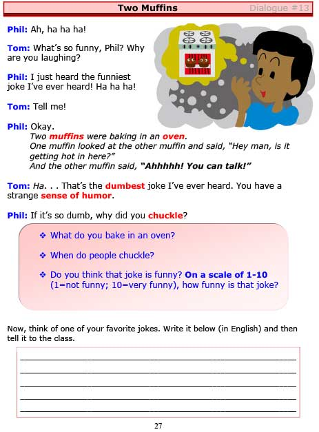 ESL Dialogues: Two Muffins (High-Intermediate) -