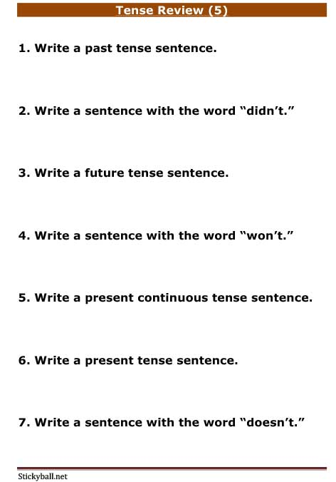 presentence and past tense