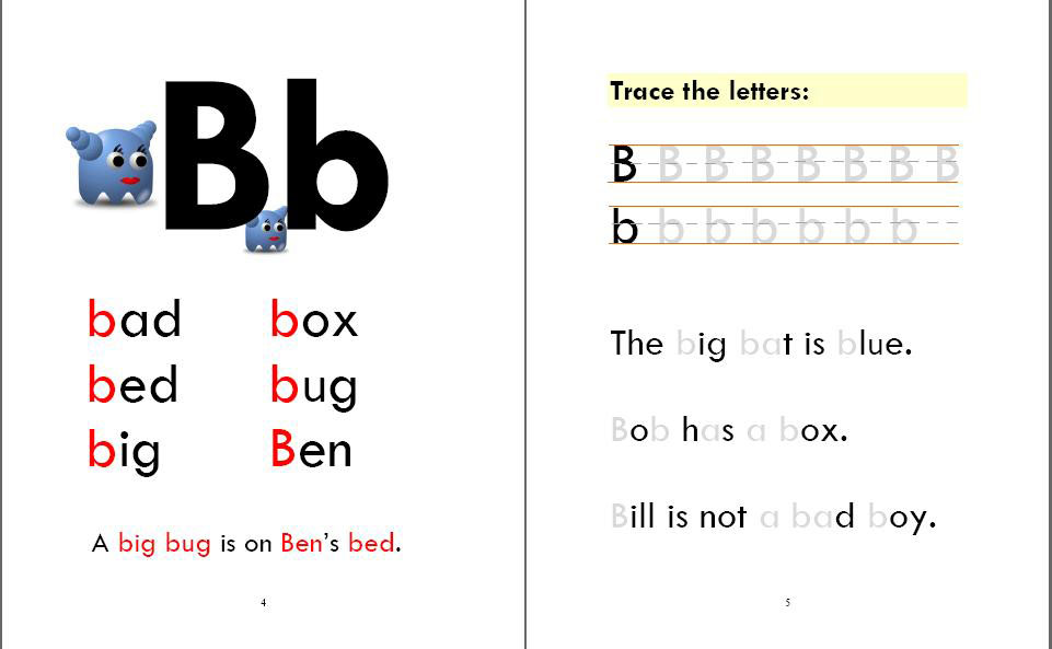 Phonics Monster Book 1 sample 2