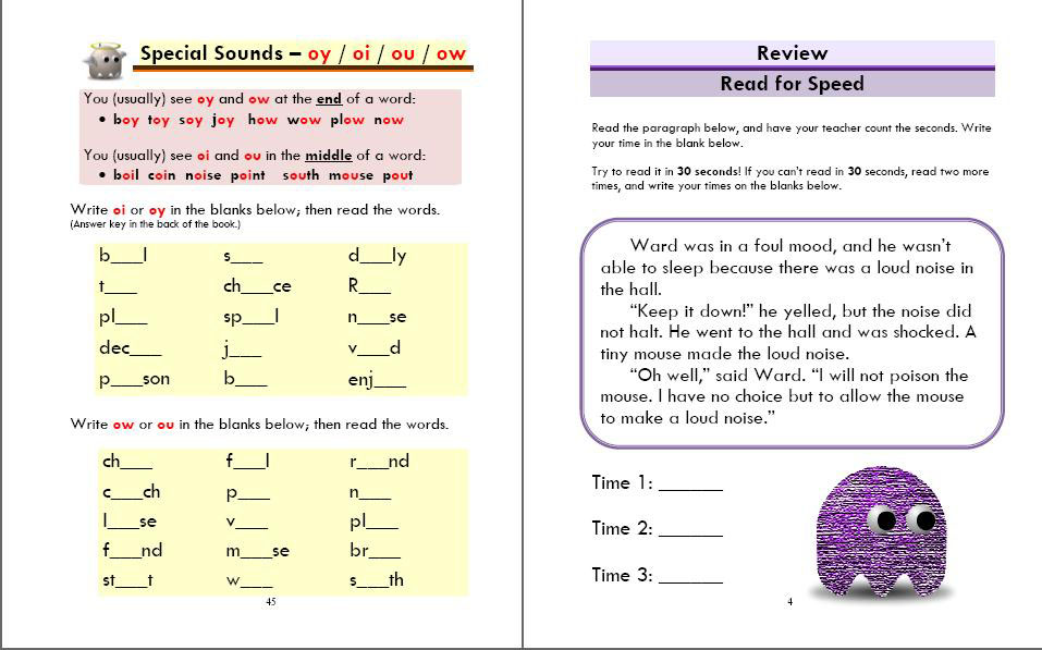 Phonics Monster Book 5 sample 3