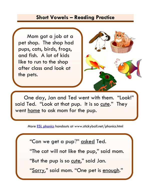Short Vowels Story 2