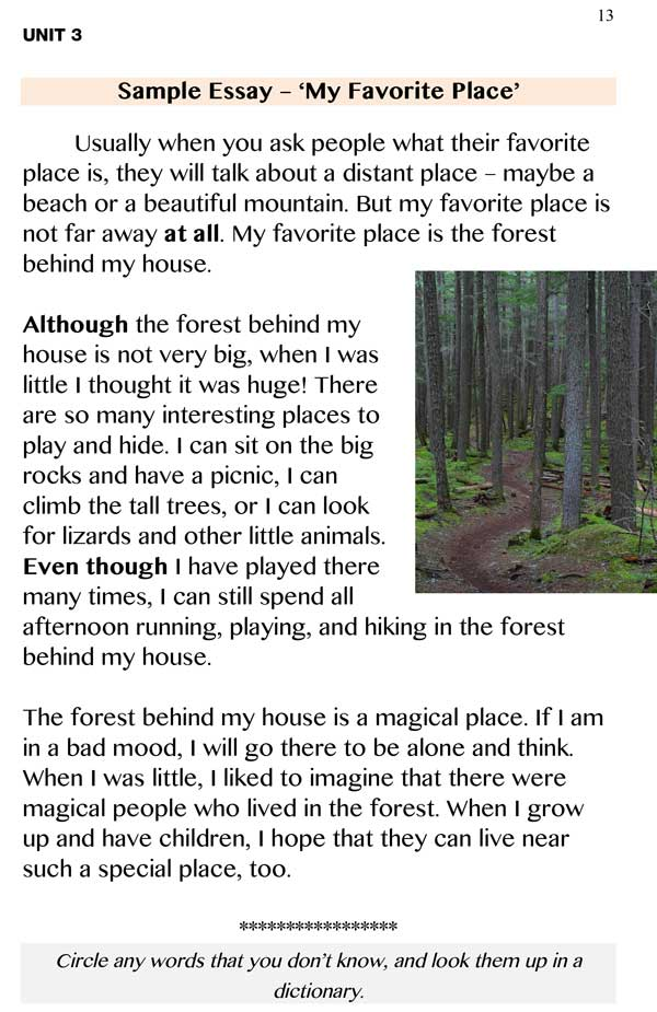 My favourite place essay