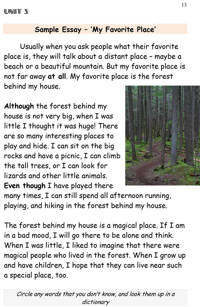 Essay About A Place That Is Special To You